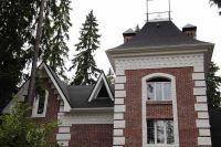 Кирпичный дом из терракотового кирпича