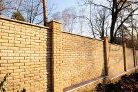 Кирпич забор
