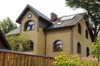 Фото кирпичного дома из желтого кирпича