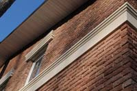 Фото кирпичного дома из терракотового кирпича Долстон