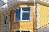 Дом из ярко-желтого кирпича