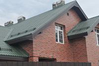 кирпичный дом из кирпича облицовочного под немецкий клинкерный кирпич