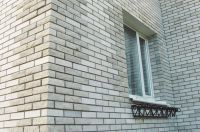 Фото дома из облицовочного кирпича, гладкий кирпич облицовочный СЕРЫЙ