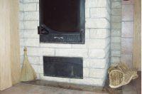 Фото камина из рваного кирпича, скала кирпич облицовочный СЕРЫЙ