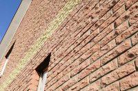 Фото дома из рваного кирпича, скала облицовочный кирпич ВИШНЕВЫЙ