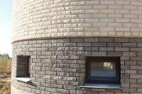 Фото цоколя из кирпича цокольного, цокольный кирпич облицовочный ЧЕРНО-СЕРЫЙ