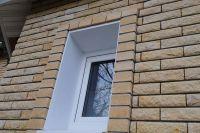 Фото отделки окна гладким кирпичом, гладкий кирпич облицовочный ЖЕЛТЫЙ