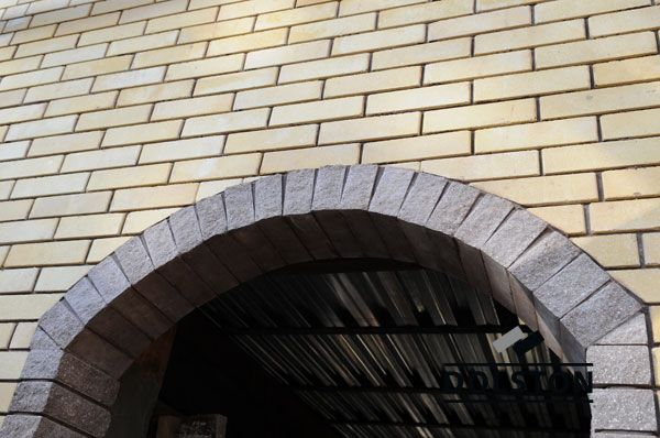 Фото арки из рваного кирпича скала облицовочный кирпич ГОРЬКИЙ ШОКОЛАД
