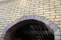 Фото арки из рваного кирпича, скала облицовочный кирпич ГОРЬКИЙ ШОКОЛАД