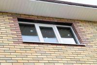 Фото отделки окна гладким кирпичом, гладкий облицовочный кирпич ТЕРРАКОТ