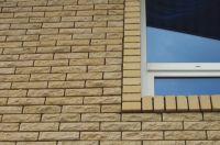 Фото отделки окна гладким кирпичом