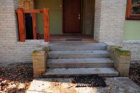 Фото цоколя из кирпича цокольного, цокольный фасадный кирпич ЖЕЛТО-СЕРЫЙ