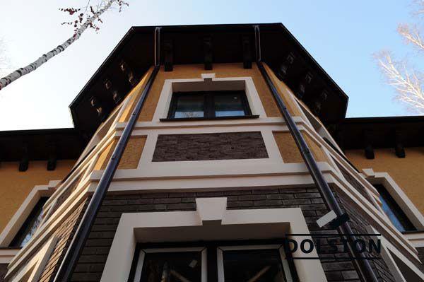 Фото дома из облицовочного кирпича гладкий кирпич облицовочный ГОРЬКИЙ ШОКОЛАД