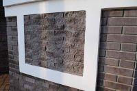 Фото вставок облицовочной плитки под кирпич в стену, плитка под фасадный кирпич ГОРЬКИЙ ШОКОЛАД