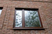 Фото отделки окна рваным кирпичом, скала кирпич облицовочный СОЛОМА