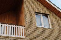 Фото отделки окна гладким кирпичом, гладкий облицовочный кирпич ЖЕЛТО-СЕРЫЙ