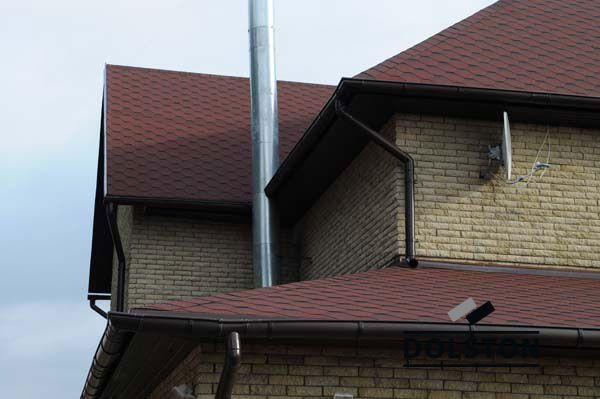 Фото дома из рваного кирпича скала кирпич облицовочный ЖЕЛТО-СЕРЫЙ