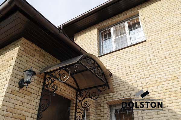 Фото отделки окна рваным кирпичом скала кирпич облицовочный ЖЕЛТО-СЕРЫЙ