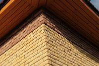 Фото вставок рваного кирпича в кирпичную стену, скала кирпич облицовочный ГРАНАТ
