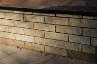 Фото облицовки цоколя плиткой под кирпич, плитка под кирпич ЖЕЛТО-ЗЕЛЕНАЯ
