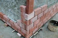 Пример конструкции стены из облицовочного кирпича, гладкий облицовочный кирпич ТЕРРАКОТ