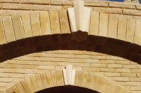 Фото арки из облицовочного кирпича, гладкий кирпич облицовочный ЖЕЛТО-ЗЕЛЕНЫЙ