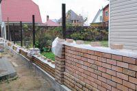 Пример конструкции стены из облицовочного кирпича, гладкий кирпич облицовочный ПЕРСИКОВЫЙ