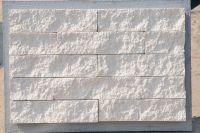 Пример кладки плитки под кирпич, плитка фасадная БЕЛАЯ