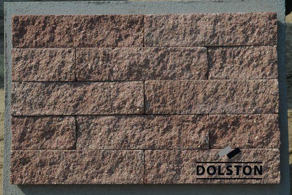 Пример кладки плитки под кирпич плитка фасадная ВИШНЕВАЯ