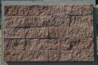 Пример кладки плитки под кирпич, плитка фасадная ВИШНЕВАЯ