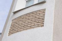 Фото вставок облицовочной плитки под кирпич в стену, плитка фасадная под кирпич СЕРАЯ
