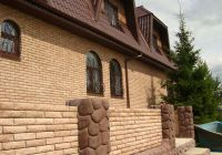 Фото дома из рваного кирпича, скала облицовочный кирпич МОЛОЧНЫЙ ШОКОЛАД