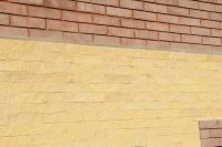 Фото облицовки цоколя плиткой под кирпич, плитка под кирпич ЖЕЛТАЯ