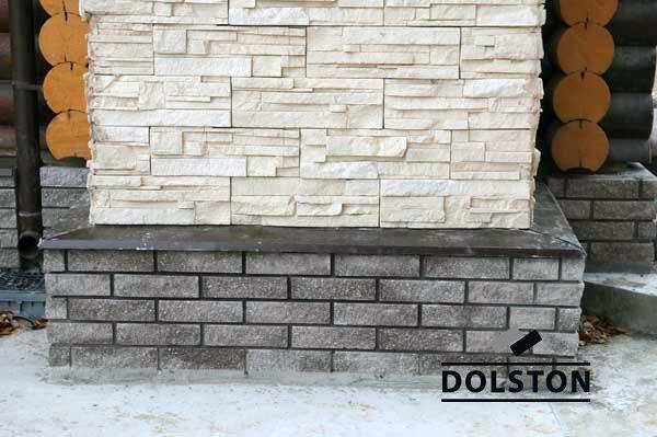Фото облицовки цоколя плиткой под кирпич плитка под фасадный кирпич ГОРЬКИЙ ШОКОЛАД