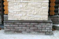 Фото облицовки цоколя плиткой под кирпич, плитка под фасадный кирпич ГОРЬКИЙ ШОКОЛАД