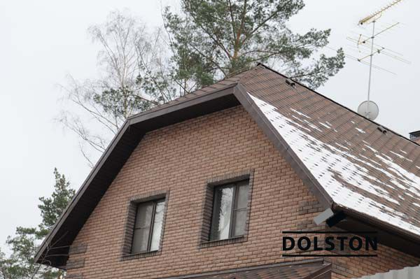 Фото дома из рваного кирпича скала облицовочный кирпич МОЛОЧНЫЙ ШОКОЛАД