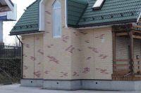 Фото дома из цокольного кирпича (американка), цокольный кирпич облицовочный ЯРКО-ЖЕЛТЫЙ