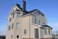 Фото дома из плитки под кирпич, плитка фасадная БЕЛАЯ