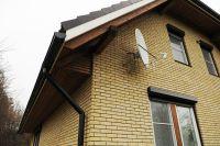 Фото дома из рваного кирпича, скала кирпич облицовочный ЖЕЛТЫЙ