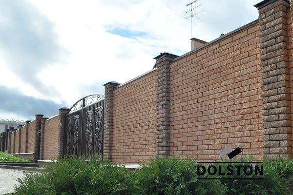 Забор из фасадной плитки