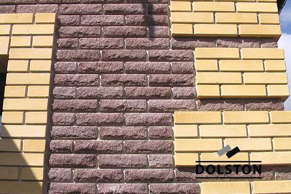 Фото дома из рваного кирпича скала облицовочный кирпич ГОРЬКИЙ ШОКОЛАД