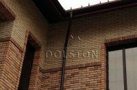 Фото отделки окна кирпичом, баварская кладка кирпича ПЕРСИК и МОЛОЧНЫЙ