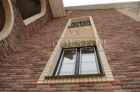 Фото отделки окна гладким кирпичом, гладкий облицовочный кирпич БЕЖЕВЫЙ