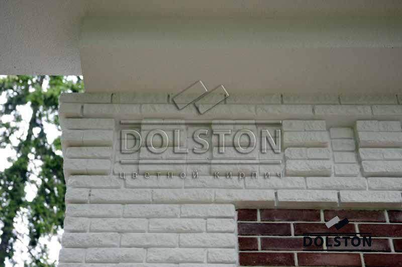 Фото вставок рваного кирпича в кирпичную стену скала кирпич облицовочный БЕЛЫЙ