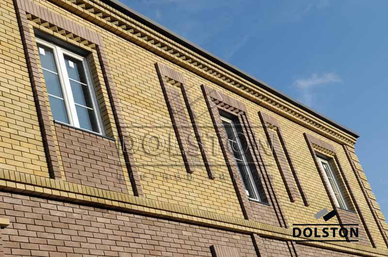 Фото отделки окна гладким кирпичом гладкий кирпич облицовочный ГОРЬКИЙ ШОКОЛАД