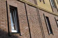 Фото отделки окна гладким кирпичом, гладкий кирпич облицовочный ГОРЬКИЙ ШОКОЛАД