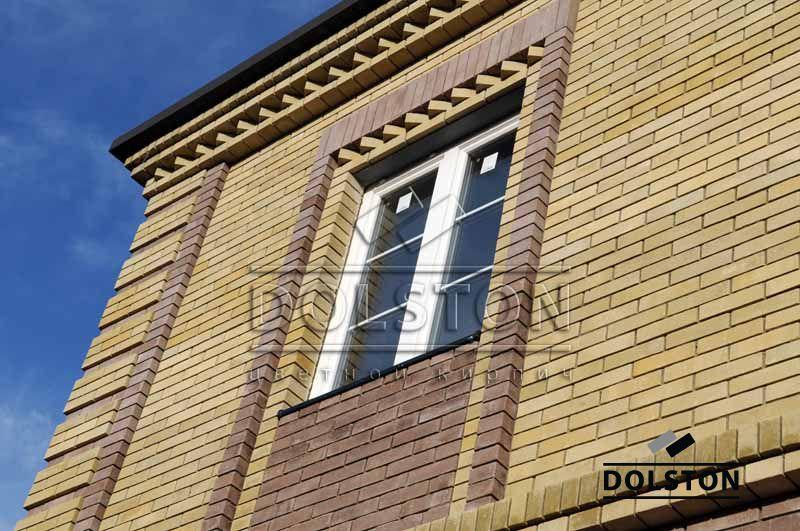 Фото отделки окна гладким кирпичом гладкий кирпич облицовочный ЛАЙМ