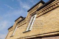Фото отделки окна гладким кирпичом, гладкий кирпич облицовочный ЛАЙМ