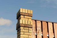 Фото сплошного забора из рваного кирпича, скала облицовочный кирпич ЛАЙМ