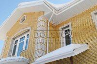 Фото дома из облицовочного кирпича, гладкий облицовочный кирпич ЯРКО-ЖЕЛТЫЙ